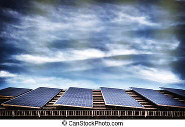 energia alternativa, sistema, painel solar