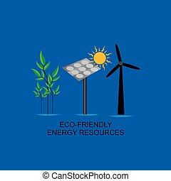 energia, conceito, eco-amigável