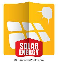 energia, conceito, solar, modelo