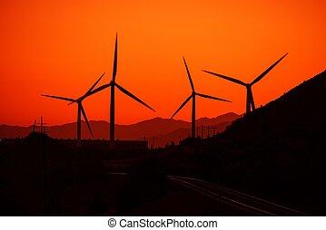 energia, conceito, vento