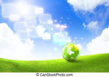 energia, conceito, verde