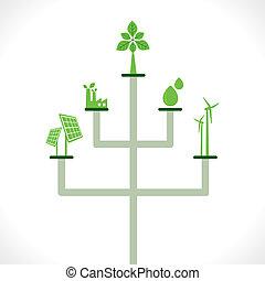 energia, conceito, verde, gerador