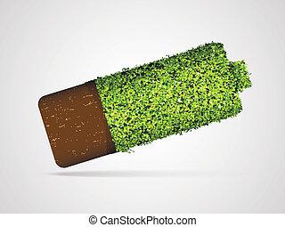 energia, conceito, verde, limpo