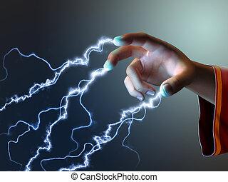 energia, dedos