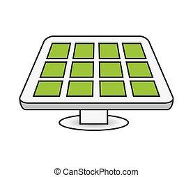energia, desenho, painel solar