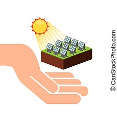 energia, desenho, solar