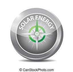 energia, disegno, solare, illustrazione, bussola