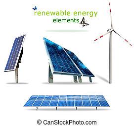 energia, elementos, renovável