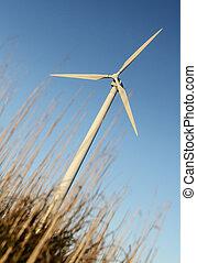 energia, -, fonte, areje turbina, renovável