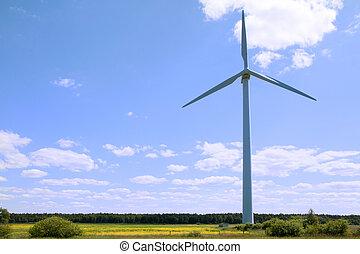 energia, -, fonte, turbina vento, rinnovabile