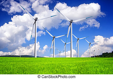 energia, global, vento