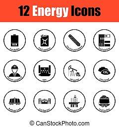 energia, ikon, állhatatos