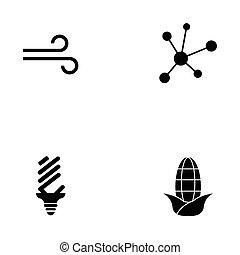 energia, jogo, ícone