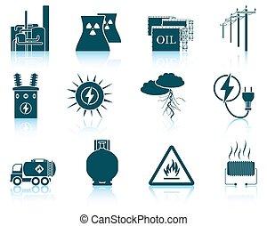energia, jogo, icons.