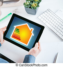 energia, mapa, eficiência, online, lar, esperto