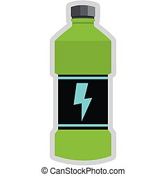 energia, napój, butelka, ikona