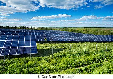 energia, painéis, solar