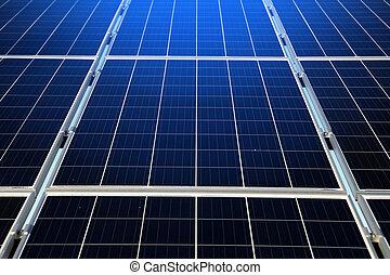 energia, parte, renovável, solar