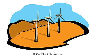 energia, poder vento