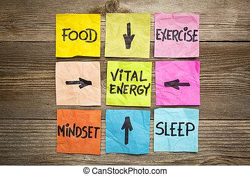 energia, pojęcie, życiowy