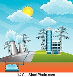 energia, projektować, odnawialny, czysty