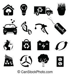 energia pulita, e, ambiente