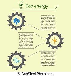 energia, renovável, infographics