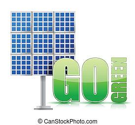 energia rinnovabile, pannelli, immagine, solare