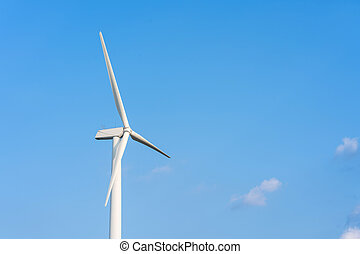 energia, rinnovabile, turbina vento, fonte, blu, estate, cielo