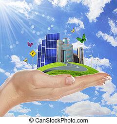 energia, sicuro, ecologia