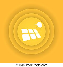energia, solar, ícone