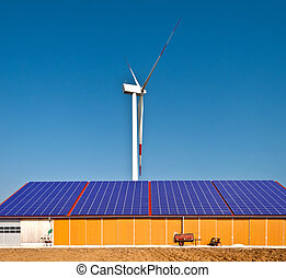 energia, solar, vento