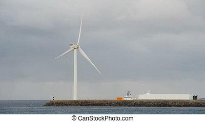 energia, szárny, erő, turbina