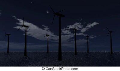 energia, turbina, wiatr, video