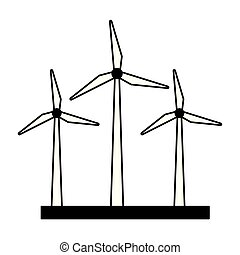 energia, turbinas, vento
