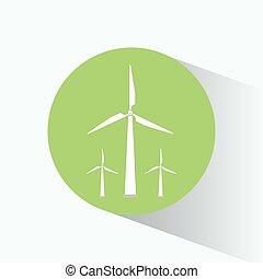 energia, turbinas, vento, limpo