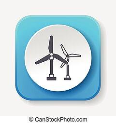 energia, vento, ícone
