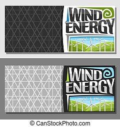 energia, vetorial, bandeiras, vento