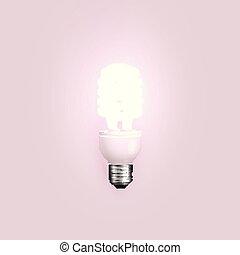 energia, vetorial, poupador, ilustração, lightbulb