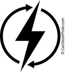 energia, vetorial, renovável, símbolo