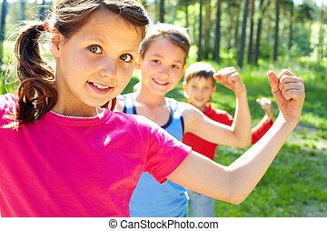 energický, děti