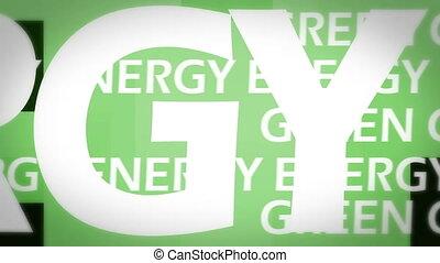 energie, animation, grün