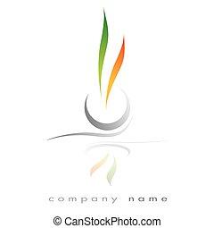 Energie bio avenir - Energy symbol for corporation, business