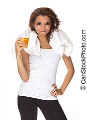 energie-boisson, boire, femme