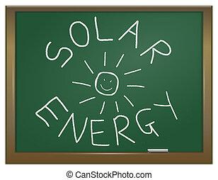 energie, concept., sluneční