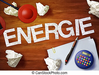 energie desktop memo calculator office think organize