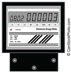energie, elektronisch, meter