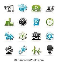 energie, fabriekshal, macht, iconen