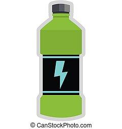 energie, getränk, flasche, ikone