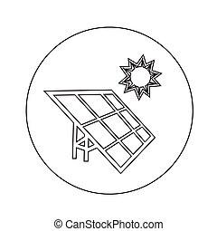 energie, illustratie, ontwerp, zonnepaneel, pictogram